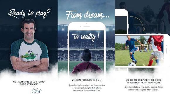 Figo lanzó app para cazar nuevos talentos en el fútbol