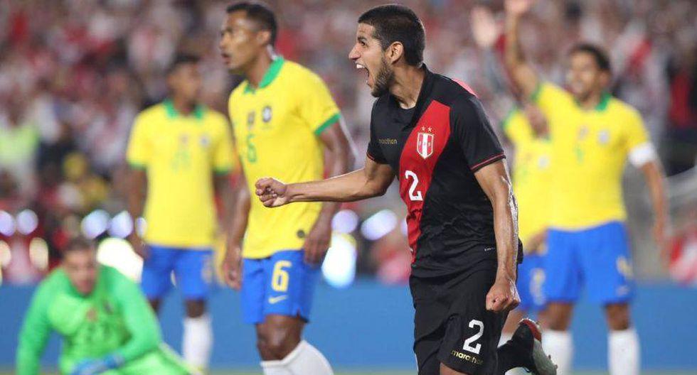 Perú vs. Brasil. (Foto: Twitter  FPF)