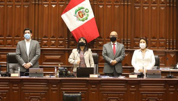 Mirtha Vásquez lidera el Congreso junto con los vicepresidentes del Parlamento Luis Roel y Matilde Fernández. (Foto: Congreso)