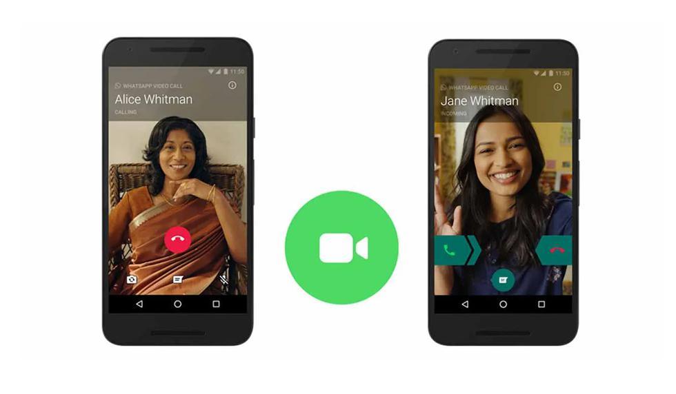 Cómo pasar de una llamada a una videollamada con WhatsApp para Android. (Foto: WhatsApp)
