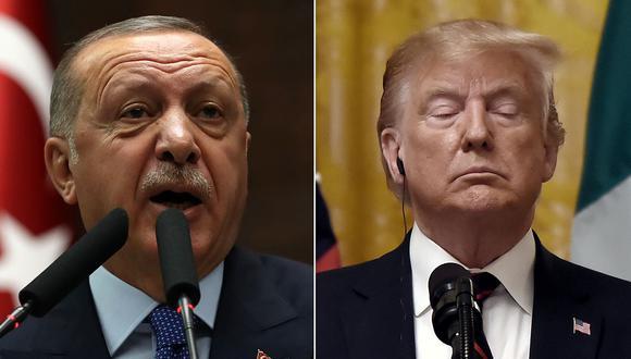 Erdogan tiró a la basura carta con las amenazas Donald Trump. (Foto: AFP/Producción)