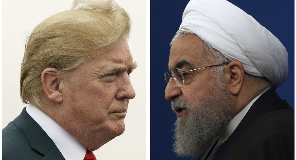 El presidente de Estados Unidos, Donald Trump, y su homólogo de Irán, Hassan Rouhani. (Foto: AP).