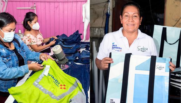 Mujeres de mi Barrio y Sabia son dos iniciativas que trabajan por proteger el planeta de la contaminación, y que debes conocer. (Fotos: Lima Expresa)