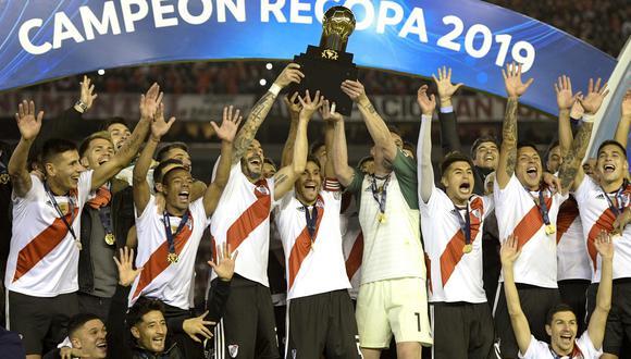 River Plate goleó al Paranaense en el Monumental y se quedó con la Recopa Sudamericana 2019. (Foto: AFP)