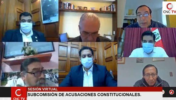 La Subcomisión de Acusaciones Constitucionales declaró improcedentes dos denuncias en su sesión de hoy. (Congreso TV)