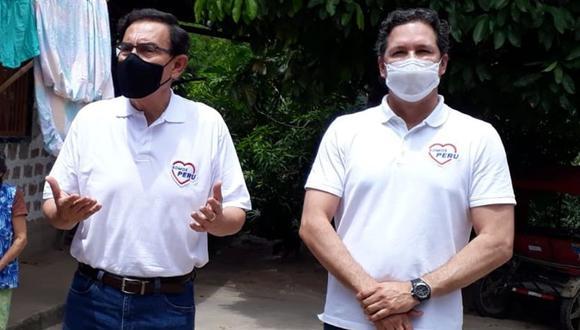 Martín Vizcarra y Daniel Salaverry realizan gira proselitista en Tarapoto (Foto: Hugo Anteparra/colaborador de El Comercio