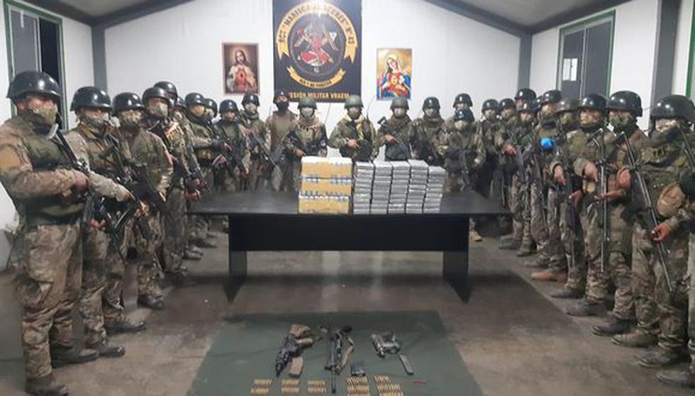 En un enfrentamiento en la selva del Vraem se incautaron armas de guerra y casi 80 kilos de droga. (Foto: CCFFAA)