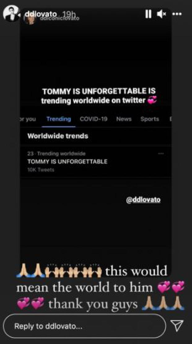 """Demi Lovato revealed that a friend who died of an overdose inspired her new single """"Unforgettable"""". (Photo: IG capture)"""