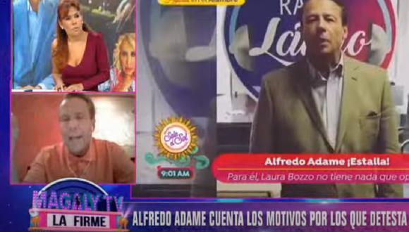 """Magaly Medina y Alfredo Adame protagonizaron acalorada discusión. (Foto: Captura """"Magaly TV: La Firme"""")"""