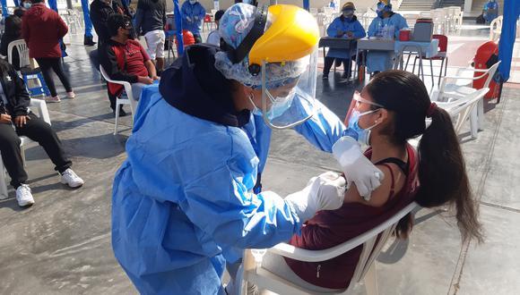 Diresa autorizo inoculación de menores solo residentes en la Ciudad Heroica. (Foto: Diresa Tacna)
