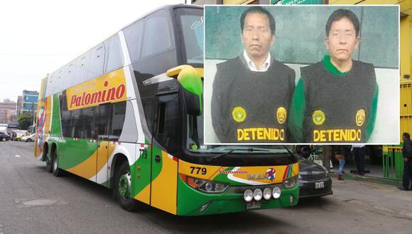 Esta tarde, la policía recapturó al chofer y copiloto de la Empresa de Transportes Palomino acusados de abusar sexualmente de una terramoza. (USI / PNP)