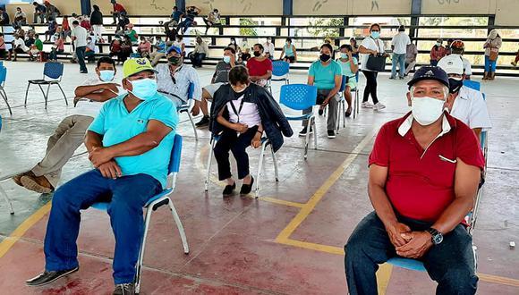 El avance de la vacunación en Madre de Dios es de un 53,8%, es decir, todavía por debajo de regiones vecinas como Puno y Cusco. (Foto: Diresa Madre de Dios)