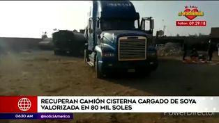 Recuperan camión cisterna con aceite de soya valorizado en 80 mil soles