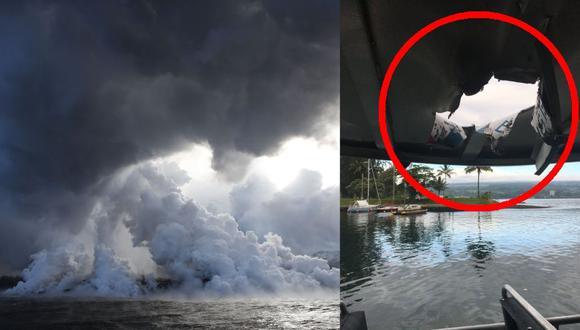 """""""Bomba de lava"""" deja 23 heridos tras impactar contra un  barco en Hawai. (Foto: AP)"""