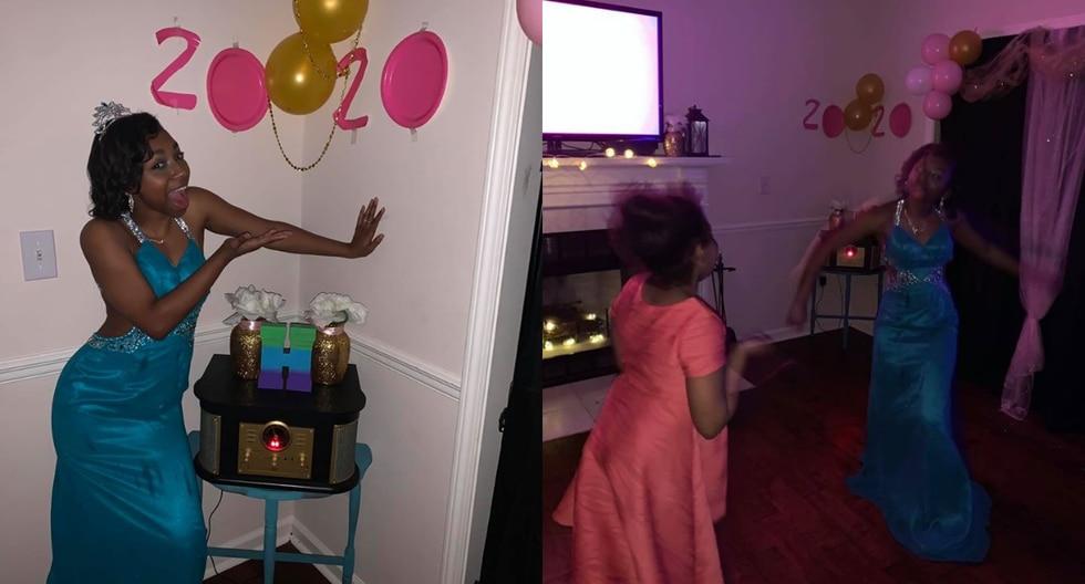La pista de baile fue en su sala, que estuvo ambientada con luces y globos.(Foto: @OasisCMEChurch/Facebook)