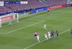Barcelona vs. Napoli: Lorenzo Insigne descontó con un preciso remate desde el punto penal | VIDEO