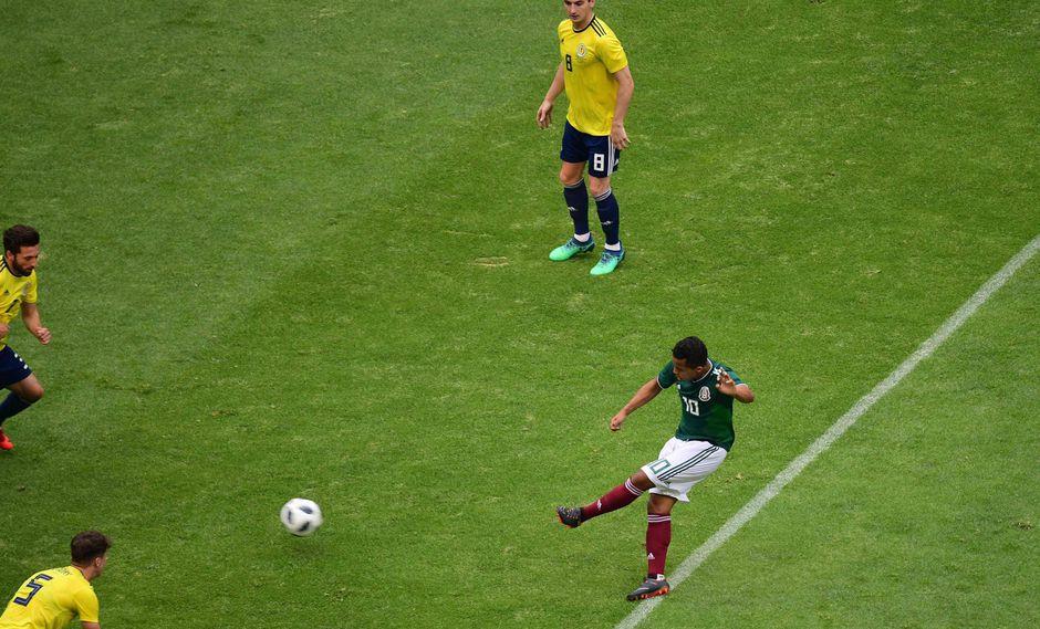 Giovani Dos Santos abrió el marcador para México en el amistoso que sostienen ante Escocia. Con su notable técnica dejó sin opciones al golero europeo. (Foto: AFP)