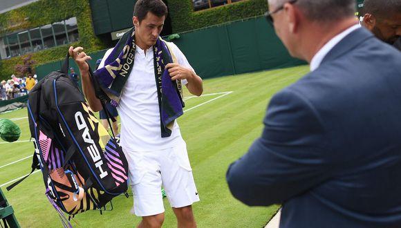 Wimbledon 2017: Tomic pierde auspiciador y es multado por juego antideportivo. (Foto: AFP)