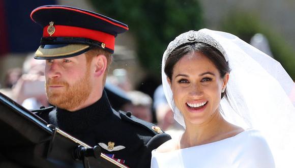 El príncipe Harry y Meghan Markle el día de su matrimonio el 19 de mayo del 2018. (Foto: Gareth Fuller / POOL / AFP).
