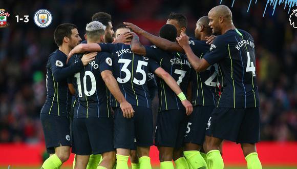 Manchester City pasó por ciertos problemas para imponerse ante el Southampton. Afortunadamente apareció Agüero para sacar adelante al grupo en St. Mary's Stadium. (Foto: Agencias)