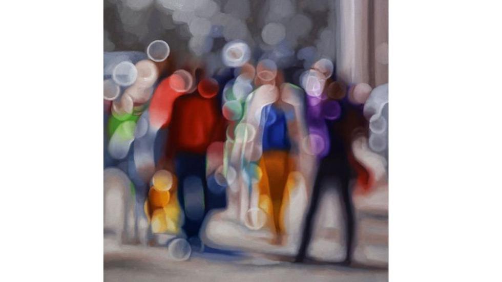Estas son algunas de las obras de  Philip Barlow. Los cuadros pintados al óleo han sido inspirados en la visión original que tienen las personas  con problemas de vista al quitarse los lentes. (Philip Barlow/ Facebook @EverardReadLondon)