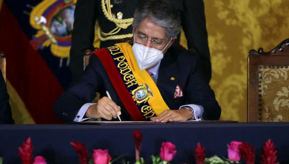 El presidente de Ecuador Guillermo Lasso. (CRISTINA VEGA RHOR / AFP).