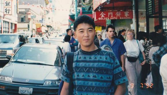 Un amigo tomó esta foto de Yoshihiro Hattori en San Francisco en 1992, el año en que murió. (THE HATTORI FAMILY).