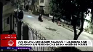 SMP: Ciudadano reduce a balazos a dos delincuentes en moto