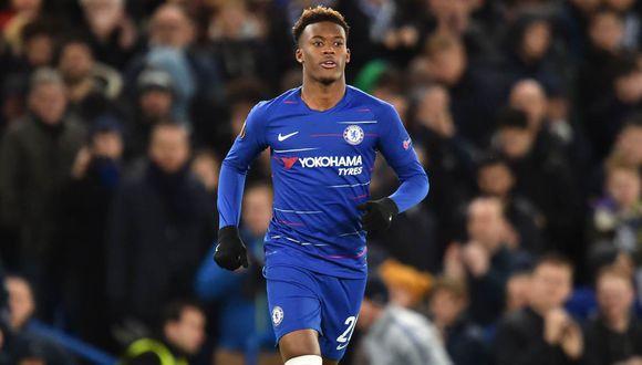 Chelsea dio buenas noticias sobre el estado de salud de Callum Hudson-Odoi, positivo por COVID-19. (Foto: AFP)