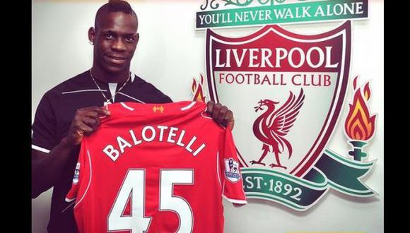 Mario Balotelli es nuevo delantero del Liverpool