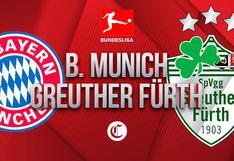 Bayern Múnich vs. Greuter Fürth en vivo online: sigue en directo el minuto a minuto