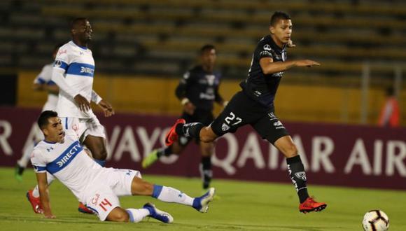 Universidad Católica se impuso por 3-2 a Independiente del Valle por la Copa Sudamericana 2019. El duelo se dio en el estadio San Carlos de Apoquindo (Foto: AFP)