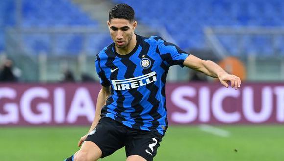 Achraf Hakimi ganó el 'Scudetto' junto al Inter de Milán en su primera temporada con el club. (Foto: AFP)