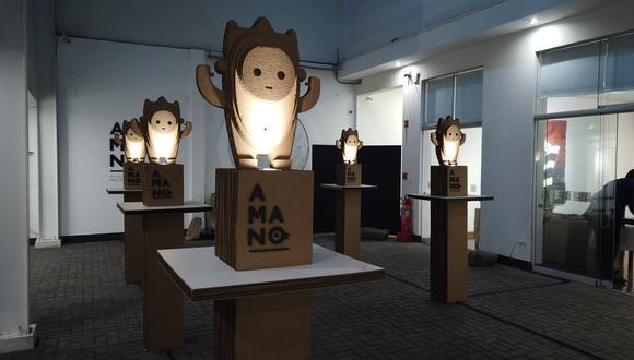 Intervención artística sostenible del estudio creativo Hocuspocus y del diseñador industrial Coque Andrade, que también es parte de la muestra que alberga el Museo Amano.