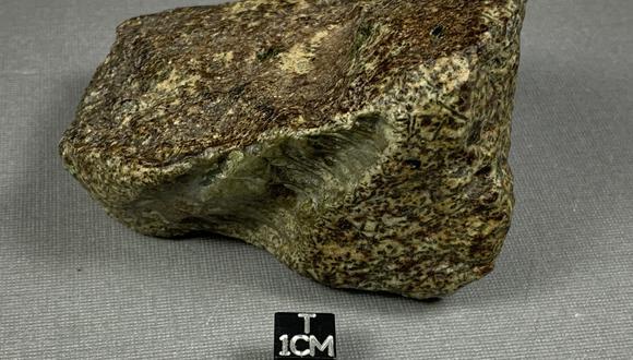 Fragmento del meteorito Erg Chech 002.  (Foto: Encyclopedia of Meteorites)