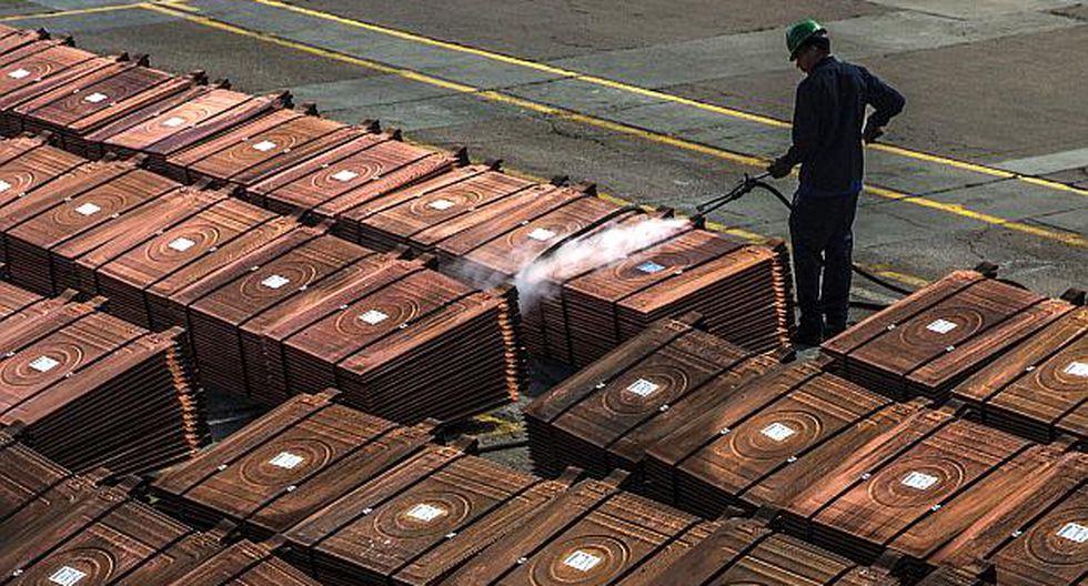 El avance del cobre fue contenido por cifras que mostraron una desaceleración de la actividad fabril en China.(Foto: AFP)