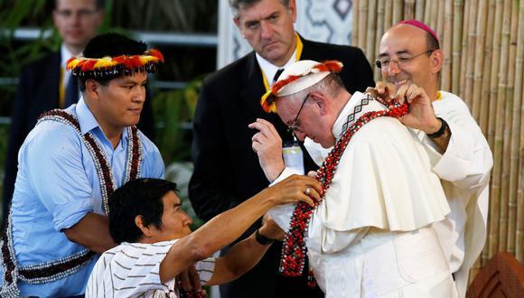 El papa Francisco tuvo un encuentro con Santiago Manuin durante visita al Perú.