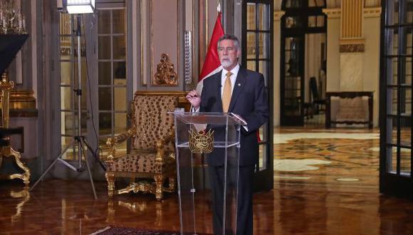 Francisco Sagasti brindó un mensaje a la nación la noche del viernes. (Foto: Presidencia)