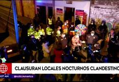 Policía clausura prostíbulos clandestinos en San Juan de Lurigancho