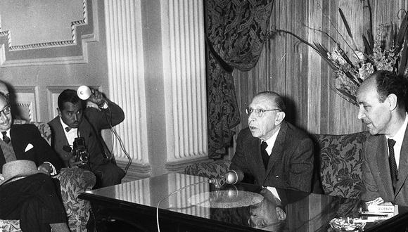 El 16 de agosto de 1960, el compositor ruso Igor Stravinski brindó una conferencia de prensa en el Hotel Bolívar. (Foto: Archivo Histórico El Comercio)