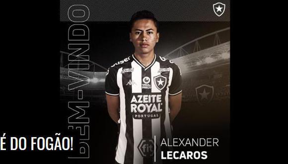 Alexander Lecaros tendrá su primera aventura internacional. (Foto: Botafogo)
