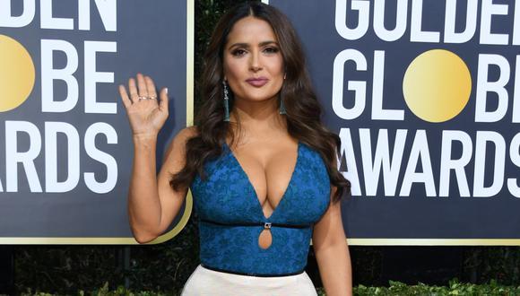 """Salma Hayek tras su comentado vestuario en los Globos de Oro: """"Prefiero verme sexy que gorda"""". (Foto: AFP)"""