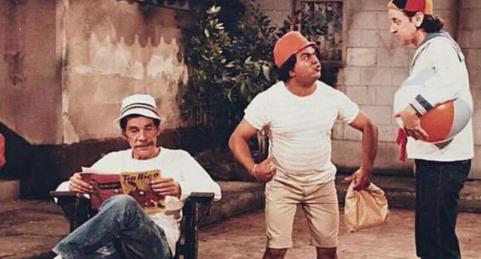 """Ramón Valdés y Carlos Villagrán en una escena de """"Federrico"""" de 1983."""