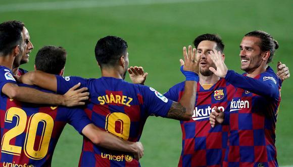 Luis Suárez mostró su apoyo a Antoine Griezmann tras el partido ante Espanyol. (Foto: EFE)