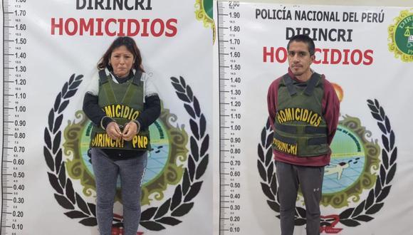 La Policía Nacional capturó en el asentamiento humano Primero de Mayo, en Puente Piedra, a Kelly Rojas Páucar (31) y Ángel Cigarrostegui Cavalier (36). (Difusión)