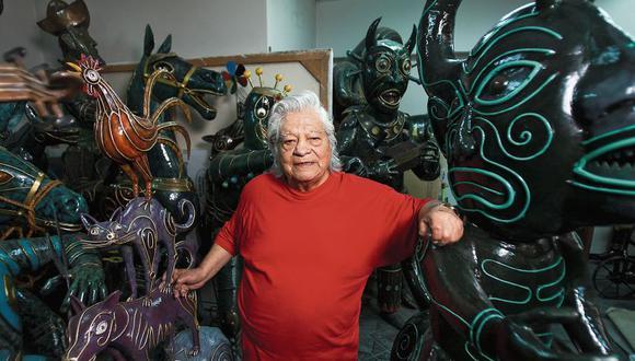 Alberto Quintanilla estudió pintura fueron en la Escuela Regional de Bellas Artes del Cuzco, bajo la dirección de Mariano Fuentes Lira. Luego se trasladó a Lima como ganador de una beca para estudiar restauración de obras de arte.  [Foto: Eduardo Cavero]