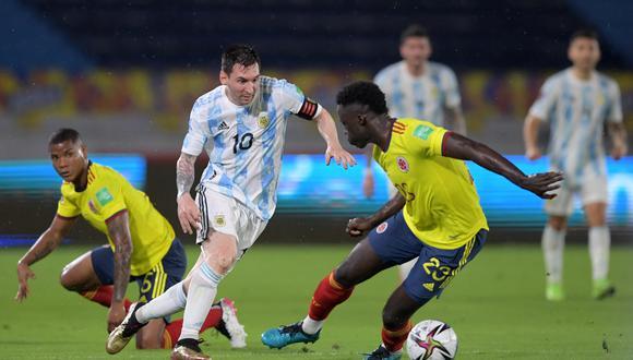 Argentina anotó dos goles temprano en el partido contra Colombia pero no supo mantener la ventaja. (Foto: AFP)