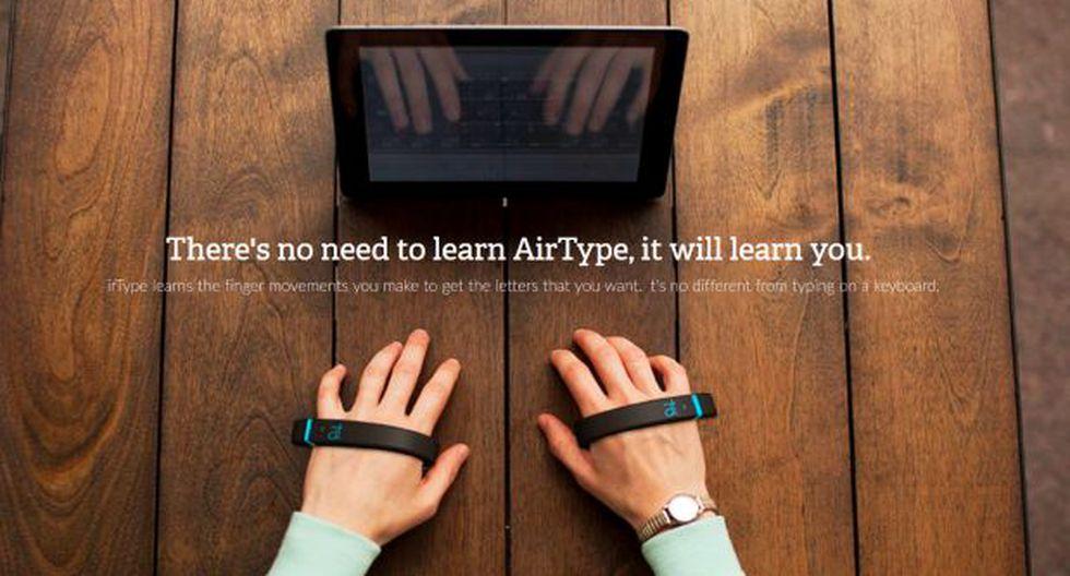 AirType, la startup que promete tipear sin teclado ni pantalla