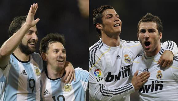 """Gonzalo Higuaín: """"Fui el futbolista que más entendió a Messi y a Cristiano Ronaldo""""."""