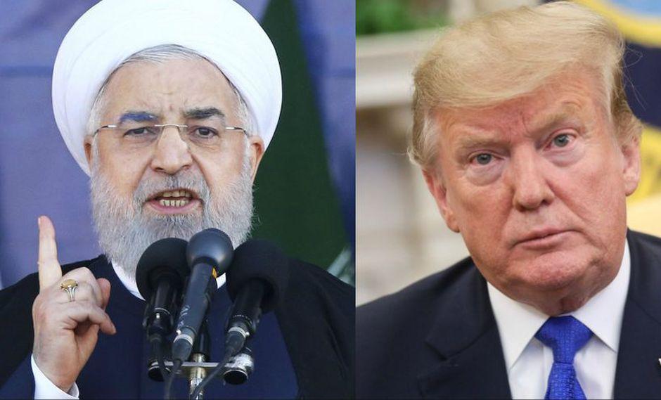 """Irán vigila los movimientos de Estados Unidos y amenaza con """"una respuesta aplastante"""". Imagen referencial de los mandatarios de ambos países, Hassan Rouhani y Donald Trump, respectivamente. (AP / AFP)"""